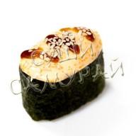 2 суши остро запеченный копченый лосось Фото