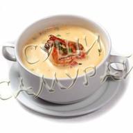 Сливочный суп с креветками Фото