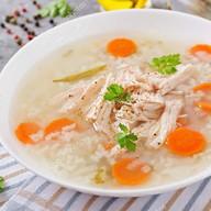 Суп куриный с рисом Фото