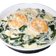 Сливочный суп с тигровой креветкой Фото