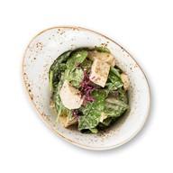 Салат из шпината и тофу в ореховом соусе Фото