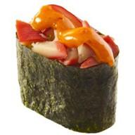 Спайс-суши с моллюском хоккигай Фото