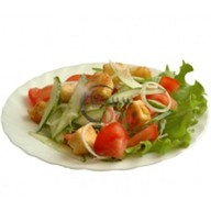 Салат с соевым творогом тофу Фото