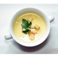 Сырный суп с крутонами Фото
