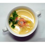 Сырный суп с креветкой Фото