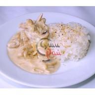 Сливочный рис с грибами Фото