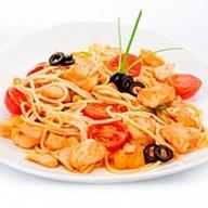 Сальмоне`э спагетти Фото