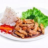 Курица терияки с рисом Фото