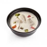 Сливочный суп с окунем Фото