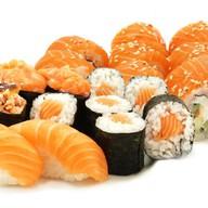 Суши сет лосось Фото