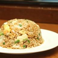 Рис карри с зеленым луком и яйцом Фото