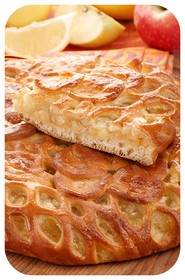 Сладкий пирог с лимоном и яблоком - Фото