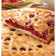Сладкий пирог с малиной Фото