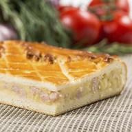 Пирог с картофелем и ветчиной Фото