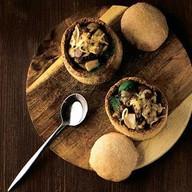 Жюльен из лесных грибов с соусом Фото