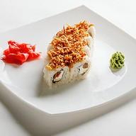 Ролл с лососем терияки Фото