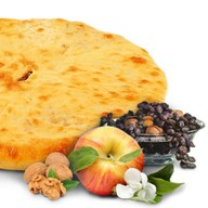 Яблоко, изюм, грецкий орех Фото