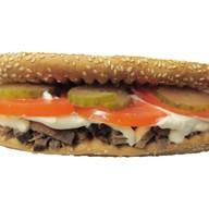 Гриль сендвич с говяжьим языком Фото