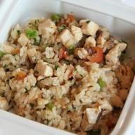 Курица с рисом и овощами Ланч Фото