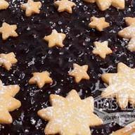 Пирог с черникой и кремом Фото