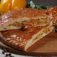 Пирог с капустой и яйцом (слоеный) Фото