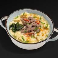Острый суп кимчи с говядиной Фото