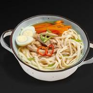 Японский суп с лапшой Фото