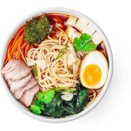 Рамэн со свининой, тофу и кинзой(острый) Фото