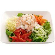 Салат овощной с креветкой Фото