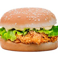 Бургер с куриным филе Фото