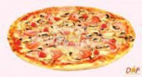 Пицца с шампиньонами и ветчиной - Фото