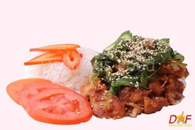 Курица с рисом и овощами - Фото