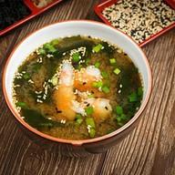 Мисо-суп с тигровой креветкой Фото