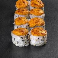 Запеченный ролл с морепродуктами Фото