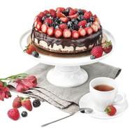Чизкейк со свежими ягодами Фото