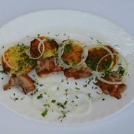 Картофель печеный с грудинкой Фото