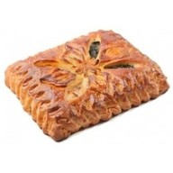 Пирог с горбушей и лососем Фото