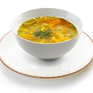 Домашний куриный суп Фото