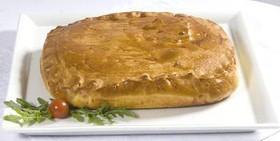 Пирог со свиной шеей и картофелем - Фото