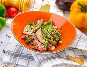 Теплый салат из зеленой фасоли - Фото