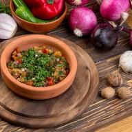 Теплый салат из запеченных овощей Фото