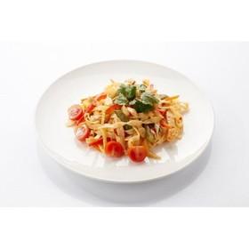 Паста феттуччине с овощами, шампиньонами - Фото