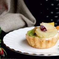 Тарталетка с фруктами Фото