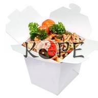 Лапша соба с курицей в соусе ким-чи Фото