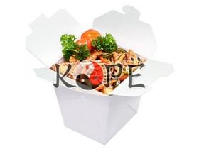 Лапша соба с курицей в соусе ким-чи - Фото