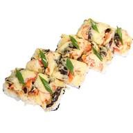 Суши - пицца с курицей Фото