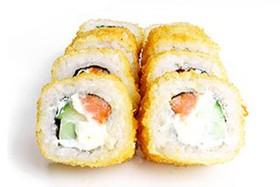Темпура с копченым лососем - Фото