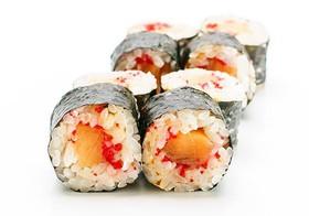 Классика лосось с тобико - Фото