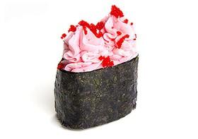 Суши с сыром и тобико - Фото