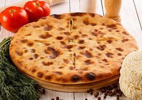 Пирог с сыром и помидорами - Фото